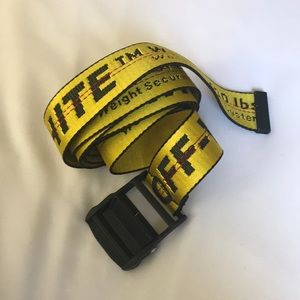 FINAL PRICE Off-White Industrial Belt Yellow